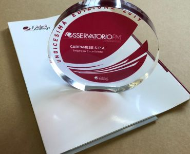 Carpanese S.P.A. has been selected as an Italian Company of Excellence by the Global Strategy Osservatorio PMI